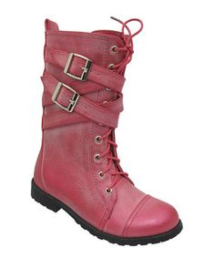 Another great find on #zulily! Fuchsia Strappy Francine Boot by Yokids #zulilyfinds