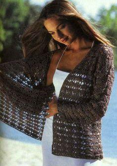 Brown Jacket free crochet graph pattern