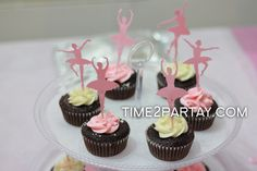Cute cupcakes at a Ballet party!  See more party ideas at CatchMyParty.com!  #partyideas #ballet