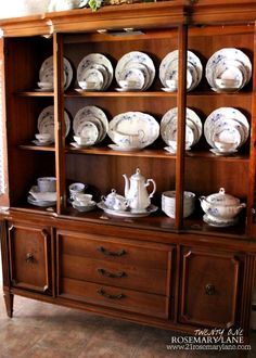 How To Arrange A China Cabinet | HeartWorkOrg.com | Other Stuff | Pinterest  | China Cabinets, China And Organizing