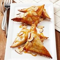 This Chocolate Ravioli's lush on the inside and crisp on the outside. More Italian desserts here: http://www.bhg.com/recipes/desserts/healthy-italian-desserts/ #myplate