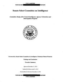 Guantanamo Bay detention camp - Government and military inquiries The US Senate Report on CIA Detention Interrogation Program that details the use of torture during CIA detention and interrogation.