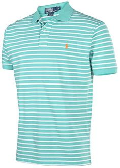 Polo Ralph Lauren Men's Classic-Fit Striped Mesh Polo, Key West Green, XXL