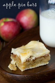 Apple Pie Bars - Best thing about this recipe is that you make them in a 9x13 pan. You can cut them into bars eat them with your fingers or ...