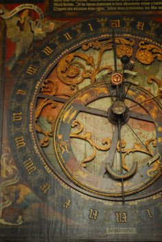 The astronomical clock on St. Paulus Dom Cathedral in Munster, Germany.  It was built around 1540-42 CE.  See first comment for description.  #myt