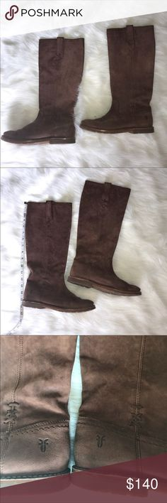 👢Pull on Frye boots — Celia X Stitch Style 😍 These are amazing— and I am so sad they don't fit me. :( Got a screaming deal on them here on Poshmark, but having to re-posh as they are too small. In my experience, I've needed to go a 1/2 size UP in Frye boots. No box but will be packaged with care. 💞 Soft, cognac leather. These are lovely and need a home where they will be properly adored! Frye Shoes Combat & Moto Boots