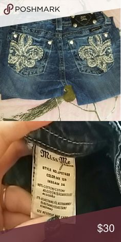 Miss Me Jeans Size 24 pair of miss me jeans with a 34inch inseam. Only worn a handful of times because they are to small. No rips or holes. All buttons and studs still attached. Open to trade also. Miss Me Jeans Boot Cut