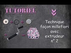 Tuto fimo/polymère technique du millefiori à l'extrudeur n° 2 - YouTube