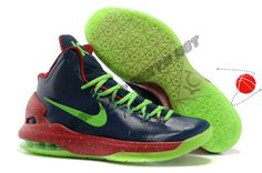 Authentic 554988 103 Nike Zoom KD V Black Green Glow-in-the-Dark-Sole Festive Price
