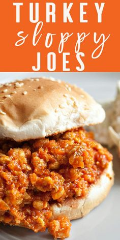 These Turkey Sloppy Joes are family-tested and kid-approved, plus lean ground turkey is a great healthy option for weeknight dinners. Embrace the mess and your kids will, too! Use gluten free buns. Ground Turkey Sloppy Joes, Healthy Sloppy Joes, Healthy Sloppy Joe Recipe, Cookies Gluten Free, Sloppy Joes Recipe, Gluten Free Sloppy Joe Recipe, Cooking Recipes, Healthy Recipes, Healthy Foods