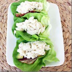 South Beach friendly: Lump crab, avocado, and bacon wraps.