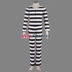 Likable Black And White Stripe Lucky Dog Cosplay Costume