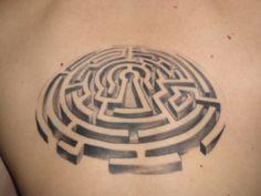 man in the maze 3d tattoo design - Google Search