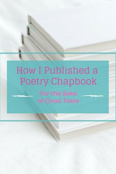 How to get your poetry book published