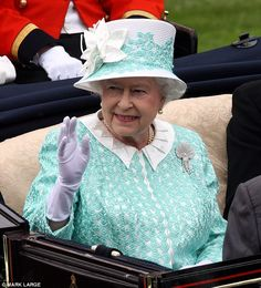 Royal racegoer: The Queen will arrive at Ascot by carriage today, accompanied in a procession by other members of the Royal family