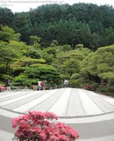 "The sand garden at Ginkaku-ji in Kyoto, Japan, known as the ""Sea of Silver Sand"".  Read blog at http://becauseiamuniquelyandwonderfullymade.com/2013/07/31/ginkaku-ji-銀閣寺-kyoto-japan/"