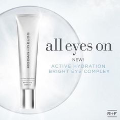 I LOVE the new Active Hydration Bright Eye Complex from Rodan & Fields. I definitely notice the difference around my eyes! It gets rid of puffiness and that tired look, and smooths out the under eye area. Roden And Fields, My Rodan And Fields, Rodan And Fields Consultant, Independent Consultant, Tired Eyes, Active, Eye Serum, Bright Eyes, All About Eyes