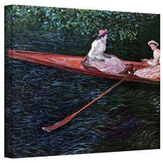 Claude Monet 'Canoe' Wrapped Canvas Art | Overstock.com