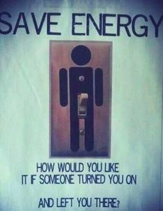 We should all do our part to save energy...