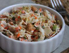 Salade de chou chinois aux cacahuètes grillées et au tofu lactofermenté - La cuisine d'Anna et Olivia
