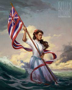 Kelley McMorris illustration: Personal work: Princess Ka'iulani