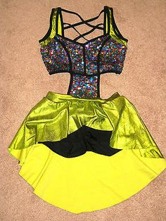 Adult Small Competition Dance Costume Lyrical Jazz Baton Pageant Cut Out Sequins | eBay
