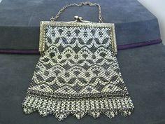 Vintage 1920's Mandalian Enamel Mesh Evening Bag by JEWELVANA