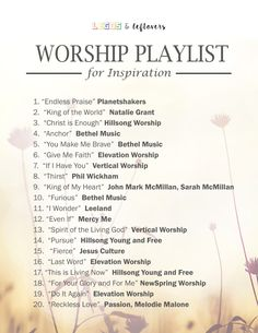 Enjoy this worship playlist freebie!  Click here for the .pdf! Jesus Music, Gospel Music, Music Songs, Reggae Music, Worship Songs Lyrics, Praise And Worship Songs, Music Mood, Mood Songs, Pop Music