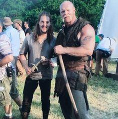 "Alexander Dreymon as ""Uthred"" and Magnus Samuelsson (as ""Clapa"") on the set of The Last Kingdom 20.6.2016 Via https://www.instagram.com/p/BGv0Lk_OJbA"