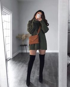 Cute Fall Outfits, Casual Winter Outfits, Winter Fashion Outfits, Look Fashion, Stylish Outfits, Girl Fashion, Skater Fashion, Fashion Black, Holiday Fashion