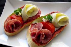 Best Tapas in Prague - Bistro Špejle Open Faced Sandwich, Sandwich Spread, Snack Recipes, Cooking Recipes, Snacks, Czech Recipes, Ethnic Recipes, Best Tapas, Tapas Restaurant