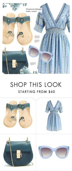 """Kavitaarts"" by monmondefou ❤ liked on Polyvore featuring Chicwish, Chloé, Alice + Olivia, RoyalLeatherSandals and Kavitaarts"