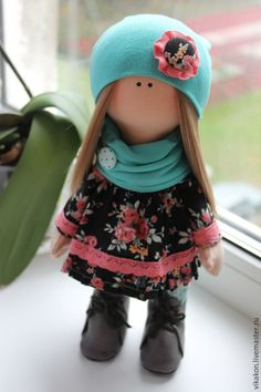 Куклы тыквоголовки ручной работы. Ярмарка Мастеров - ручная работа. Купить Интерьерная кукла. Handmade. Разноцветный, кукла интерьерная