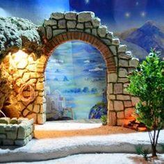Christmas Crib Ideas, Christmas Diy, Diy Crib, Mini Houses, Diorama, Nativity, Mount Rushmore, Outdoor Structures, Travel