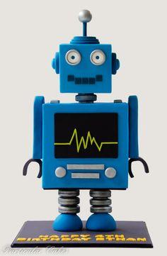 Robot Cake |  www.facebook.com/ParticularCakes