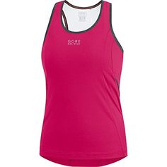 GORE BIKE WEAR Womens Tank Top with Integrated Bra GORE Selected Fabrics  Element Lady Singlet Size XL Jazzy Pink ILELEM    You can get more details  by ... 9e3ef23b3