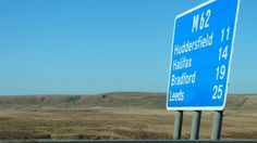 Highest motorway in England Motorway Signs, Roads, Signage, Safety, England, Photography, Blue, Ideas, Security Guard
