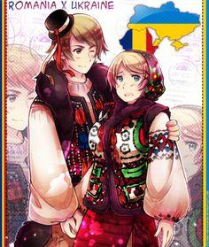 Tags: Anime, Axis Powers: Hetalia, Ukraine, Romania, Kagome Inuyashkina