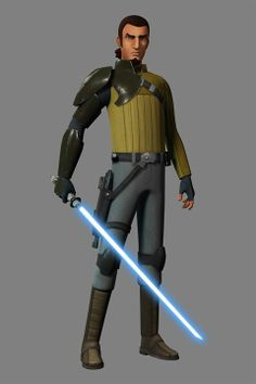 Jedi Kanan from Star Wars Rebels. A Jedi who had to go underground after Order 66. Known as Cowboy Kanan to Dave Filoni.