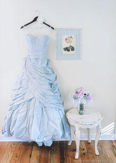 Seersucker Wedding Dress Magnolia Plantation Wedding
