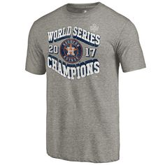 Men's Houston Astros Fanatics Branded Gray 2017 World Series Champions High Heat Tri-Blend T-Shirt