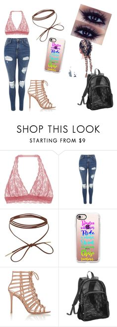 """""""no school no rules"""" by unicornprincess0319 on Polyvore featuring Cosabella, Topshop, Casetify, Gianvito Rossi and Eastsport"""