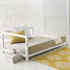 West Elm simple daybed: for the patio