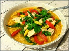 Forking Foodie: Tom Yum Gai / Goong (Hot and Sour Chicken / Prawns) two ways in the Thermomix TM31 or TM5
