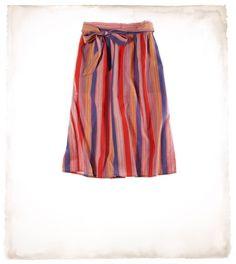 Aerie striped midi skirt