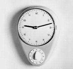 Max Bill et Ernst Möckl – Junghans kitchen clock – Max Bill, Contemporary Classic, Contemporary Design, Kitchen Clocks, Timer Clock, Bauhaus Design, Good Old Times, Swiss Design, Modern Watches