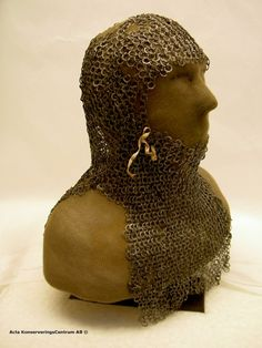 Gotland coif of approx. 1200- after micro blasting and conservation- on display