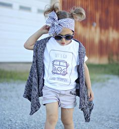 Let's go road Trippin' quote Children's Toddler by StarrJoy16