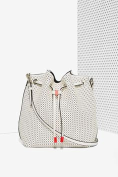 Charlize Perforated Bucket Bag