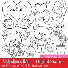 Valentine's Day - Digital stamps
